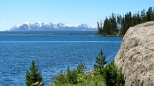 Yellowstone Lake, the largest lake at high elevation (above 7,000 feet) in North America.Photo Credit: Donna Hailson.
