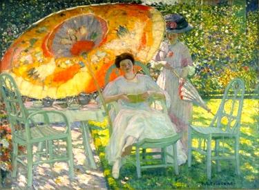 The Garden Parasol, c. 1910