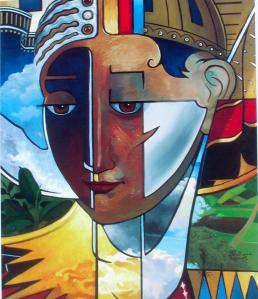 This image by an Ethiopian artist of the biblical figure Ruth is in my collection.