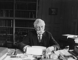 Justice Oliver Wendell Holmes, Jr. at his desk, 1921.