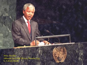 Mandela_-_watercolour_-_caption_-_addresses_UN_3_Dec_1999_by_Eskinder_Debebe