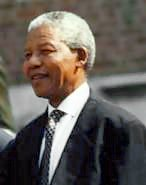 Nelson Mandela at Independence Hall, Philadelphia, PA, 1993.