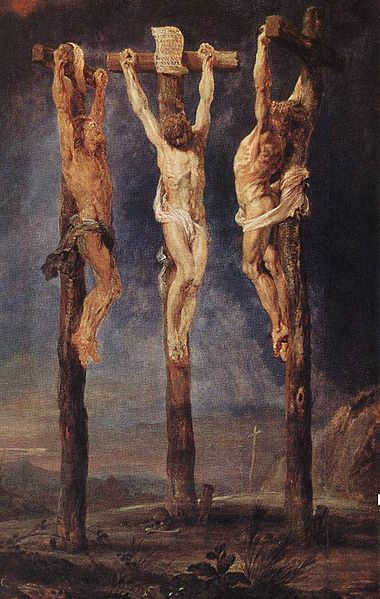 The Three Crosses by Peter Paul Rubens (c. 1620).