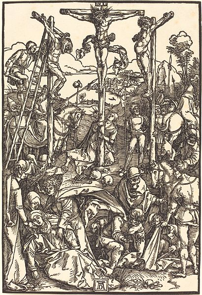 Calvary with the Three Crosses (woodcut) by  Albrecht Durer (1504-1505)