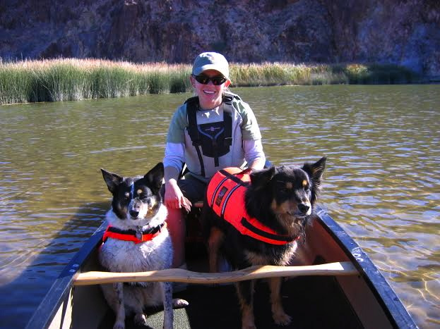 Canoeing on the lower Colorado River.