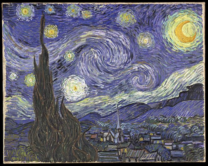 The Starry, Starry Night, Vincent Van Gogh, 1889.