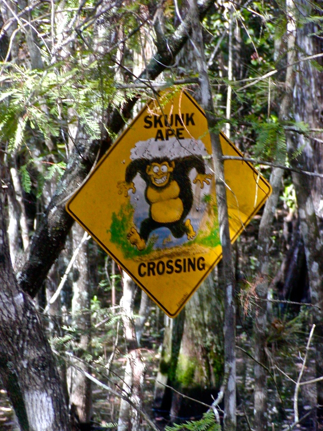 Skunk Ape Sign at BCG