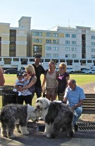 Attracting a crowd at Lake Eola, Kissimmee, Florida.