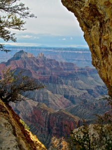 View from Bright Angel Trail, North Rim, Grand Canyon National Park, Arizona.